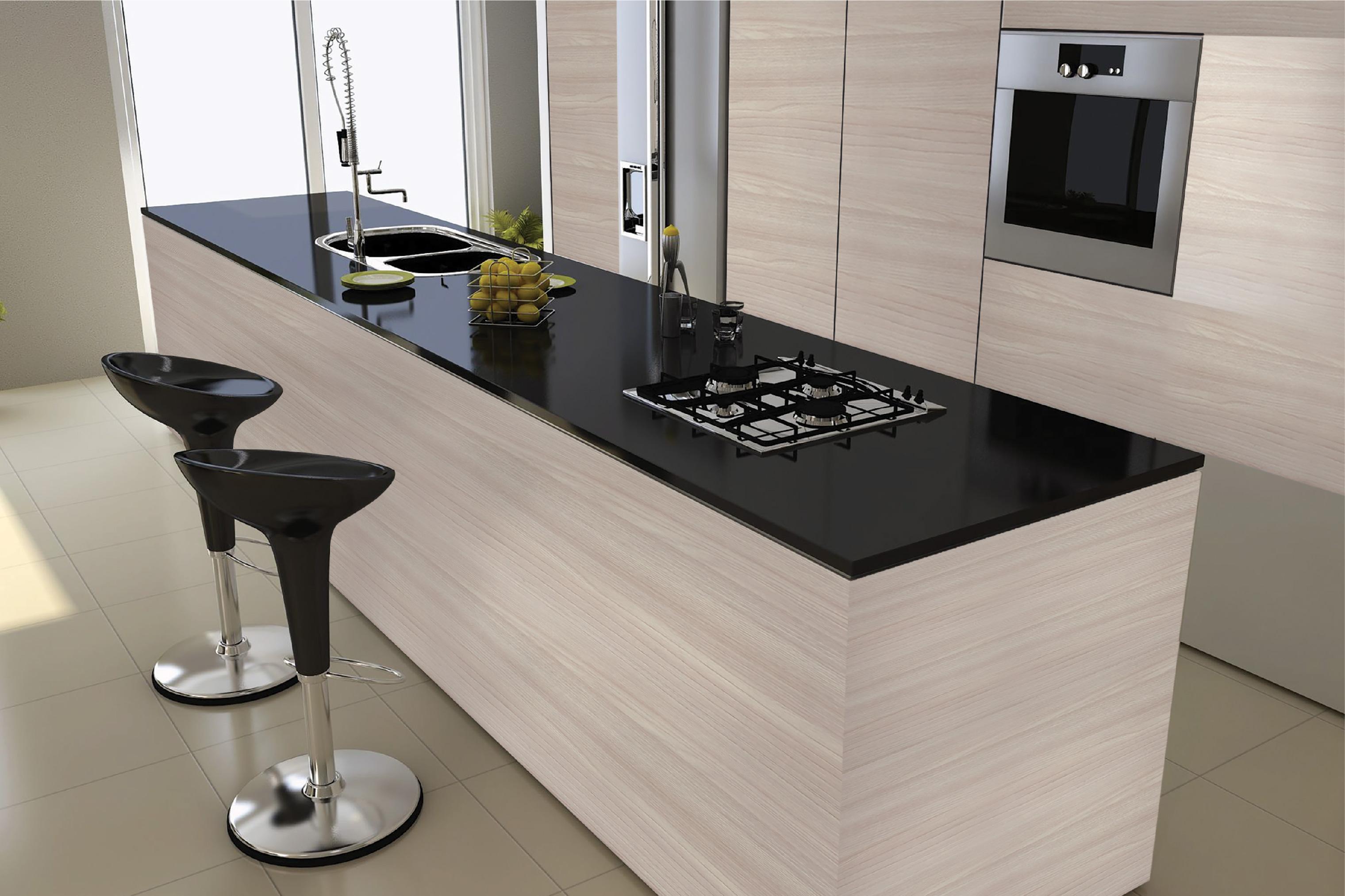 Showcase - Modern Kitchen Cabinet | Green Decor - Melamine ...